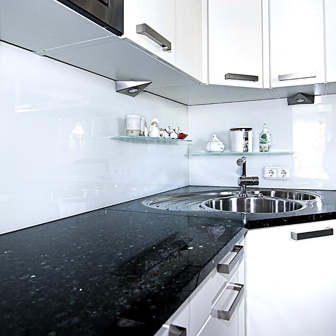 Nischenglas Küche | Glaserei Zettl Kuchenruckwande